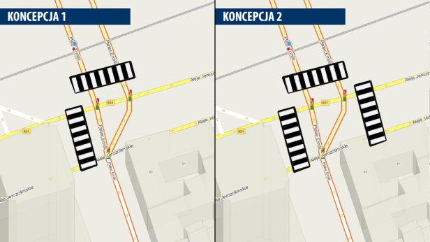 W tych miejscach mogą powstać przejścia dla pieszych tvnwarszawa.pl / targeo.pl