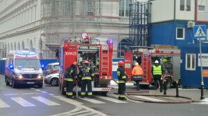 Pożar na tyłach hotelu Europejskiego