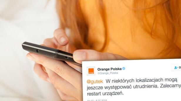 Problemy z Orange Shutterstock
