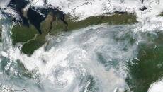 Pożary na Syberii (PAP/EPA/NASA EARTH OBSERVATORY HANDOUT)