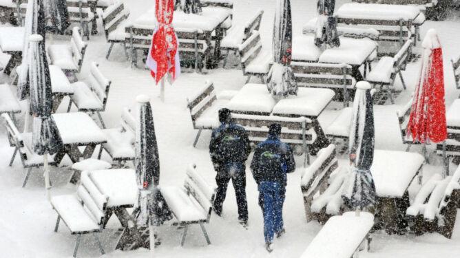 W Niemczech 10 centymetrów śniegu
