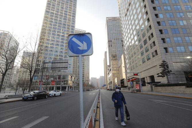 Puste ulice Pekinu (PAP/EPA/WU HONG)