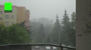 Oberwanie chmury w Bałutach