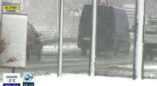 Śnieg w Poznaniu (TVN24)